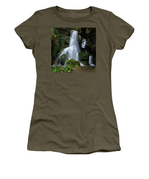 Lichtenhain Waterfall Women's T-Shirt (Athletic Fit)
