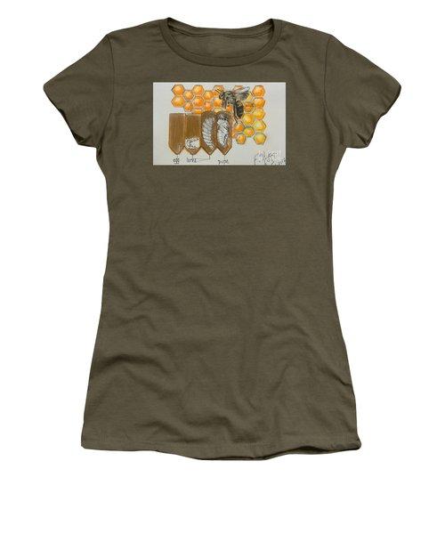 Life Cycle Of A Bee  Women's T-Shirt (Junior Cut) by Francine Heykoop