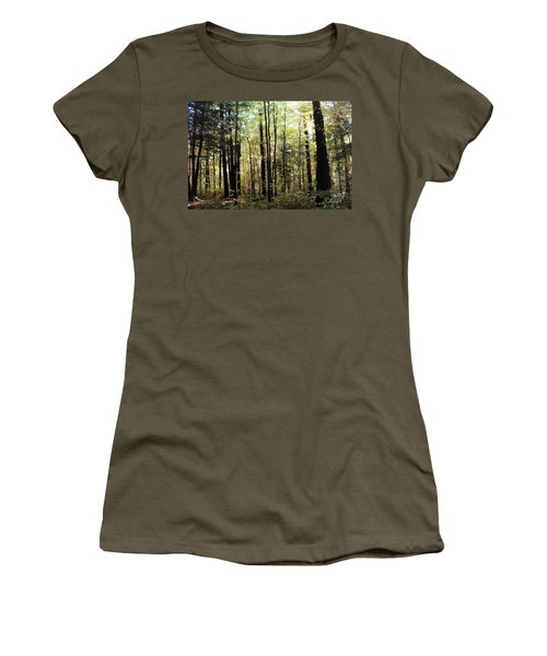 Women's T-Shirt (Junior Cut) featuring the photograph Light Among The Trees by Felipe Adan Lerma