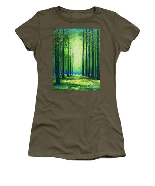 Light From Green Women's T-Shirt (Athletic Fit)