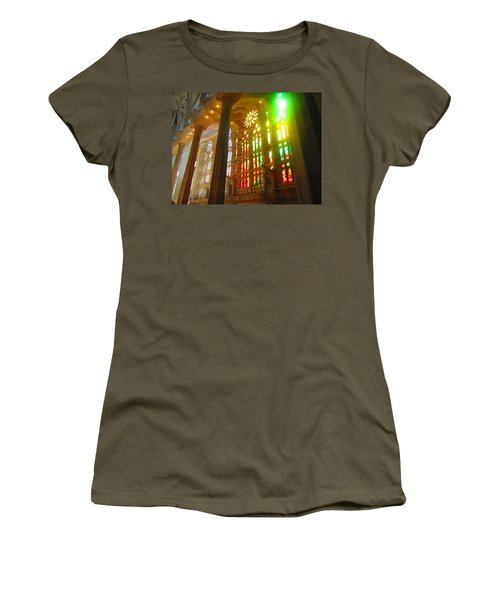Women's T-Shirt (Junior Cut) featuring the photograph Light Of Gaudi by Christin Brodie