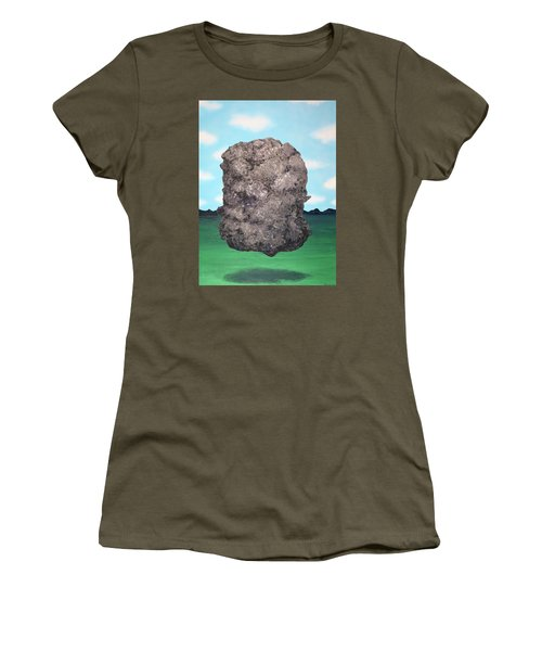 Women's T-Shirt (Junior Cut) featuring the painting Light Rock by Thomas Blood