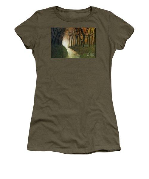 Light The Path Women's T-Shirt (Junior Cut) by Christy Saunders Church