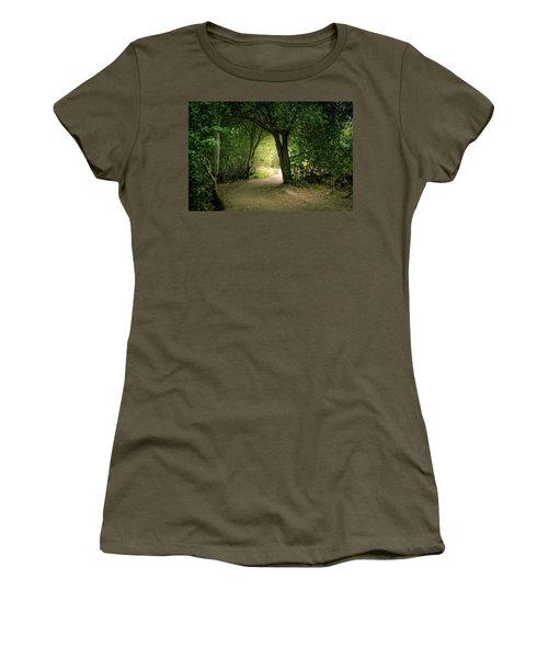 Light Through The Tree Tunnel Women's T-Shirt