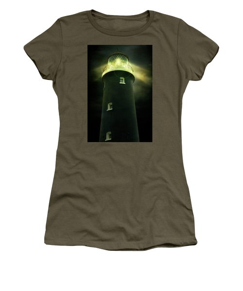 Lighthouse At Night Women's T-Shirt