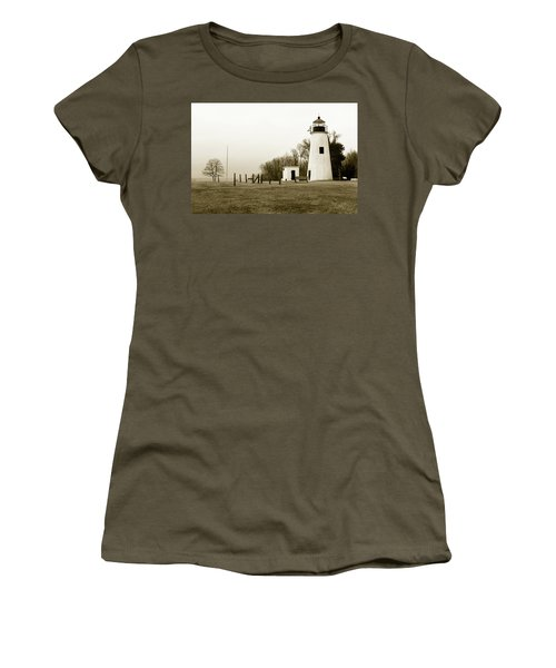 Lighthouse At Turkey Point Women's T-Shirt