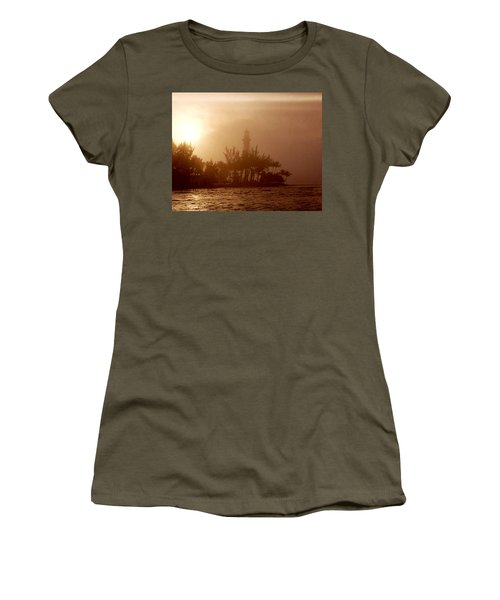 Lighthouse Point Sunrise Women's T-Shirt (Athletic Fit)