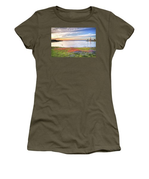 Lighthouse Sunset At Lake Buchanan Women's T-Shirt (Athletic Fit)