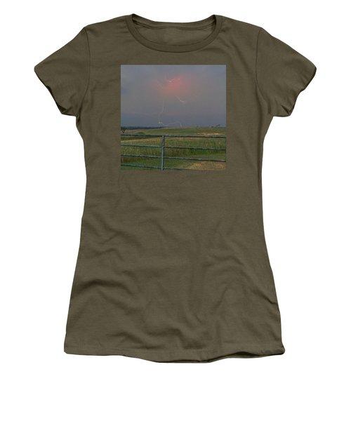 Lightning Bolt On A Scenic Route Women's T-Shirt