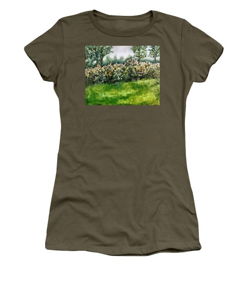 Lilac Bushes In Springtime Women's T-Shirt (Athletic Fit)