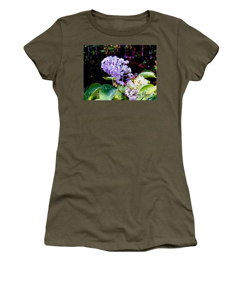 Women's T-Shirt featuring the photograph Lilacs by Deleas Kilgore