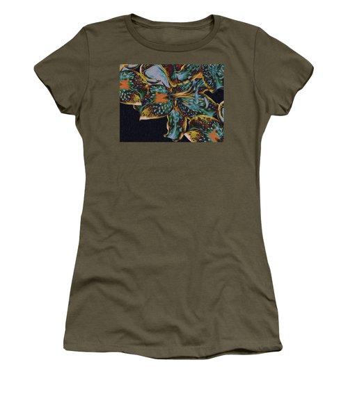 Women's T-Shirt (Athletic Fit) featuring the digital art Lillies 22 by Lynda Lehmann