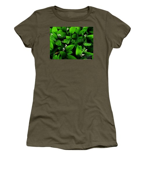 Lily Of The Valley Women's T-Shirt (Junior Cut) by Elfriede Fulda