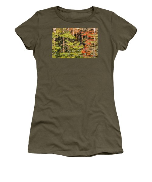 Lily Pad Abstract II Women's T-Shirt (Athletic Fit)