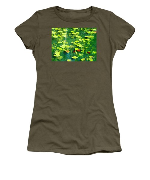 Women's T-Shirt (Junior Cut) featuring the photograph Lily Pads by Melissa Stoudt