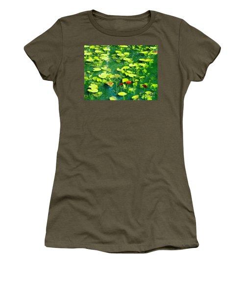 Lily Pads Women's T-Shirt (Junior Cut) by Melissa Stoudt