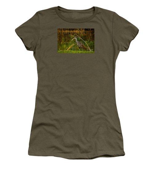 Limpkin At Water's Edge Women's T-Shirt (Junior Cut) by Tom Claud