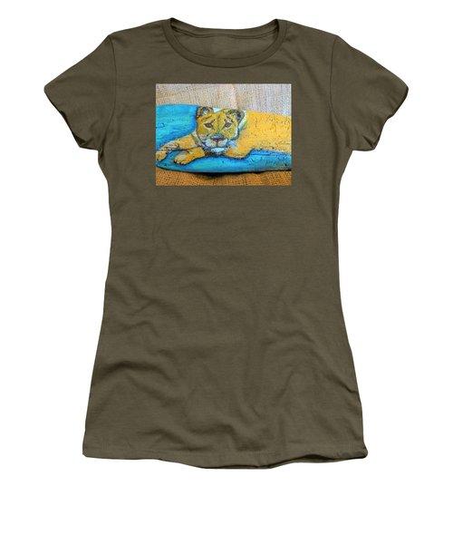 Lioness Women's T-Shirt (Junior Cut) by Ann Michelle Swadener