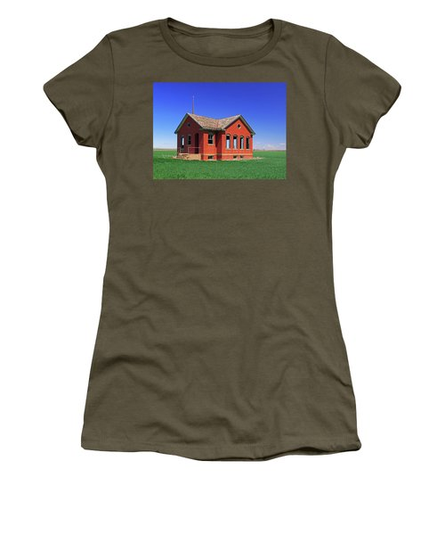 Little Brick School House Women's T-Shirt (Athletic Fit)