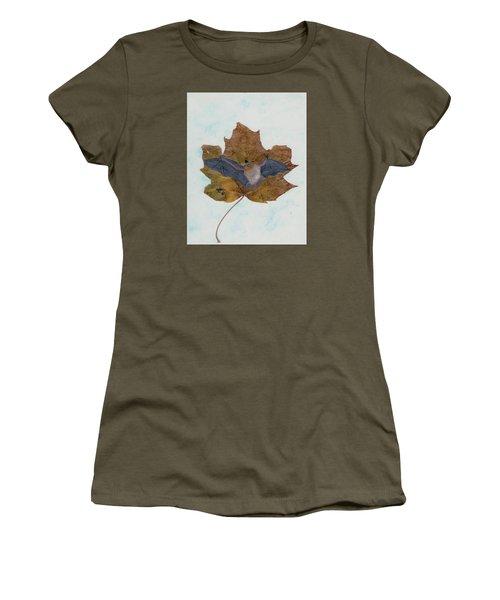 Little Brown Bat Women's T-Shirt (Junior Cut) by Ralph Root