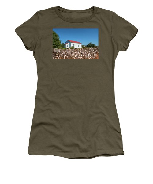 Little Church In The Cotton Field Women's T-Shirt (Junior Cut) by Bonnie Barry