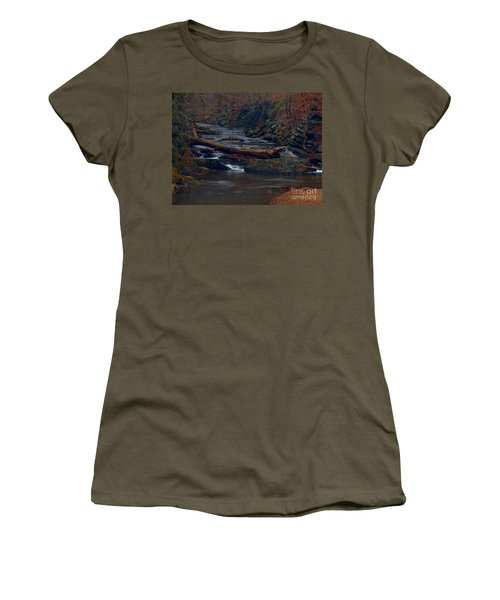Women's T-Shirt featuring the photograph Little Falls by Donald C Morgan