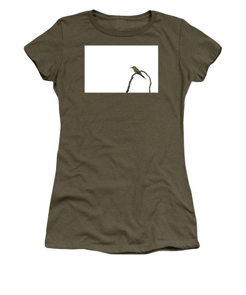 Little Green Bee Eater  Merops Orientalis  Women's T-Shirt (Athletic Fit)