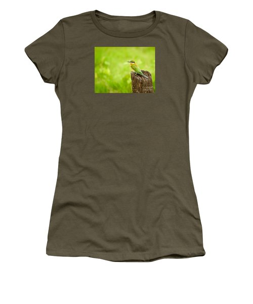 Little Green Bee-eater Women's T-Shirt (Athletic Fit)