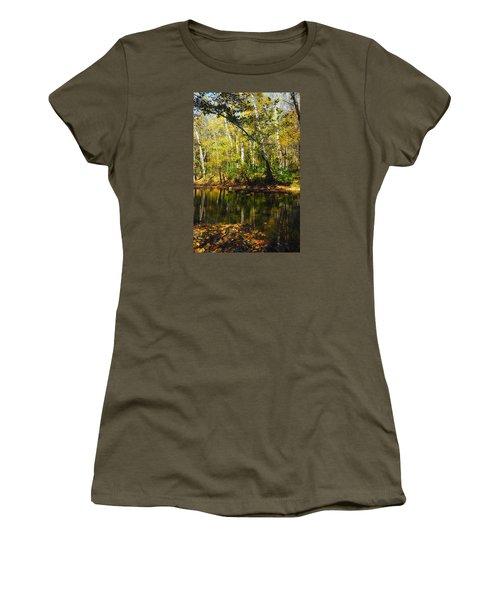 Women's T-Shirt (Junior Cut) featuring the photograph Little Miami River by Beth Akerman