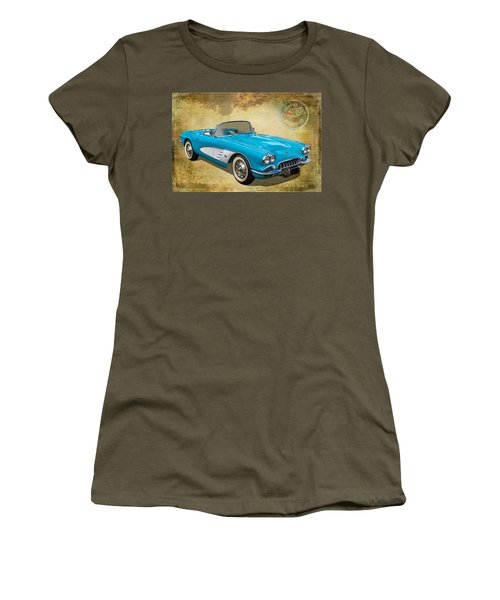 Little Vette Women's T-Shirt (Junior Cut) by Keith Hawley