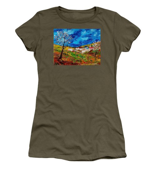 Little Village Women's T-Shirt (Junior Cut) by Mike Caitham
