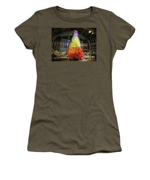 Living Color Christmas Tree Women's T-Shirt (Athletic Fit)