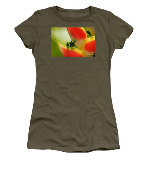 Lobster Claw Flower Women's T-Shirt (Athletic Fit)