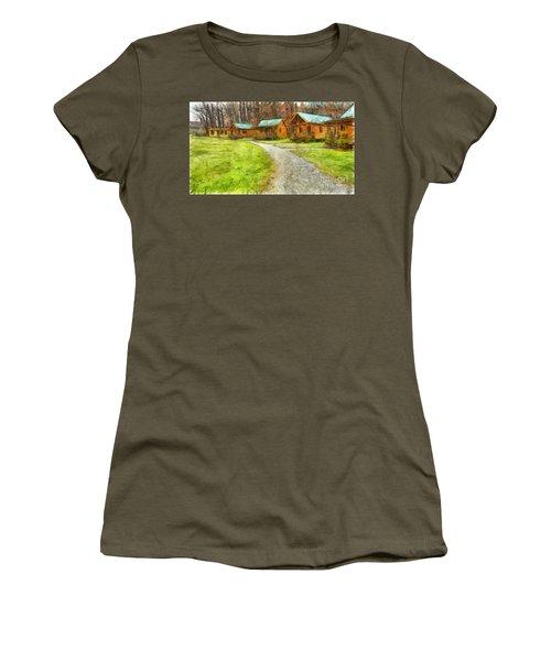Log Cabins Pencil Women's T-Shirt