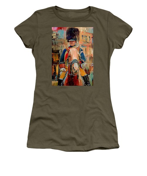 London Guard On Horse Women's T-Shirt (Athletic Fit)