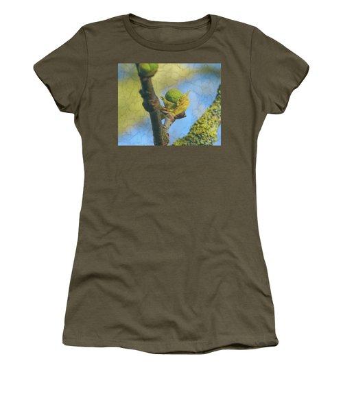 Women's T-Shirt featuring the photograph London Plane Buds D - Platanaceae Fine Art by Jacek Wojnarowski