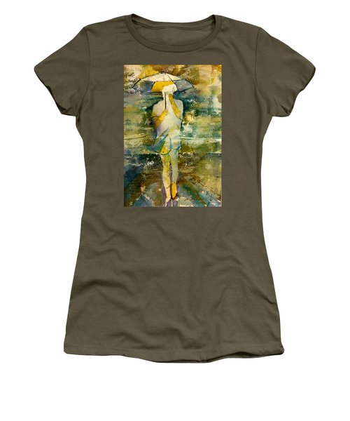 London Rain Theme Women's T-Shirt