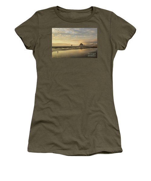 Sunset At Haystack Rock Women's T-Shirt