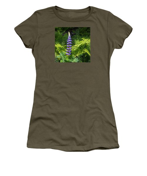 Lone Blue Lupine Women's T-Shirt (Athletic Fit)