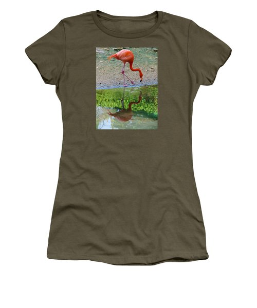 Lone Flamingo Women's T-Shirt (Athletic Fit)