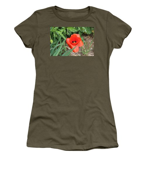 Lonesome Poppy Women's T-Shirt (Athletic Fit)