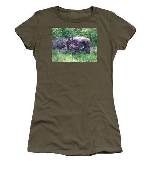 Women's T-Shirt (Junior Cut) featuring the photograph Long Forgotten 2808 by Guy Whiteley
