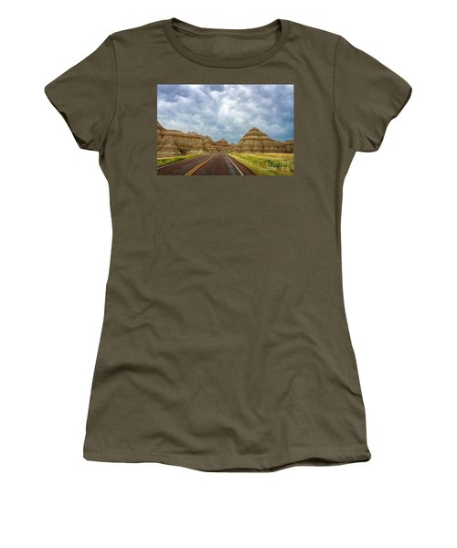 Long Lonesome Highway Women's T-Shirt (Athletic Fit)