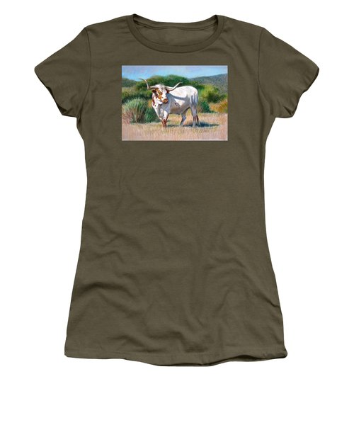 Longhorn Bull Women's T-Shirt (Athletic Fit)