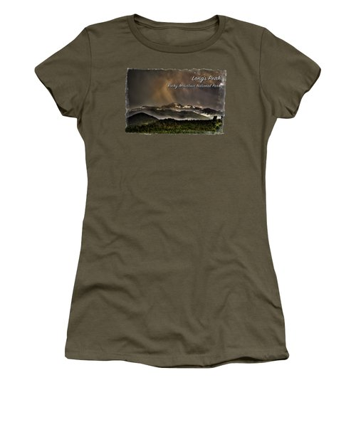 Long's Peak In Haze Women's T-Shirt
