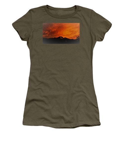 Longs Peak Sunset Women's T-Shirt (Athletic Fit)