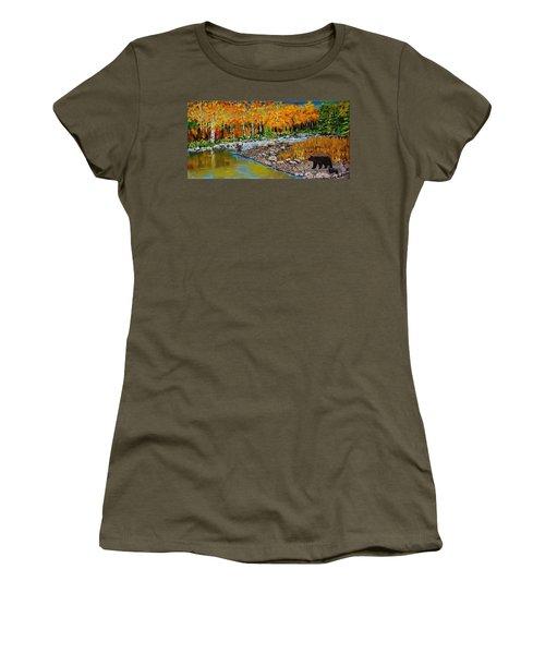 Look Around Joe Women's T-Shirt (Junior Cut) by Mike Caitham