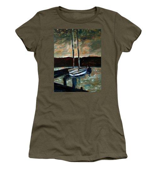 Looking Across Upper Lake Camp Wayne Women's T-Shirt (Junior Cut)