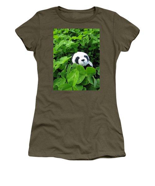 Women's T-Shirt (Junior Cut) featuring the photograph Looking For A Lucky Clover by Ausra Huntington nee Paulauskaite