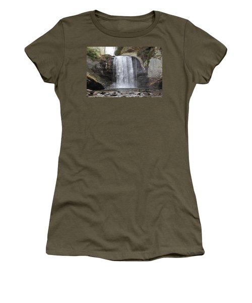 Looking Glass Falls Front View Women's T-Shirt
